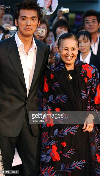 Takeshi Kaneshiro and Emi Wada during 'Lovers' Tokyo Premiere Arrivals at NHK Hall in Tokyo Japan