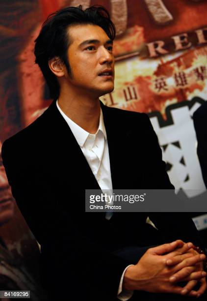 Takeshi Kaneshiro arrives at the premiere of 'Red Cliff Part 2' on January 4 2009 in Beijing China