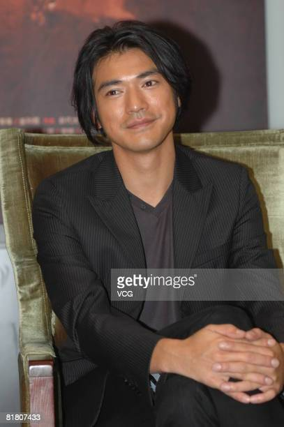 Takeshi Kaneshiro attends a Red Cliff press conference on July 2 2008 in Beijing China