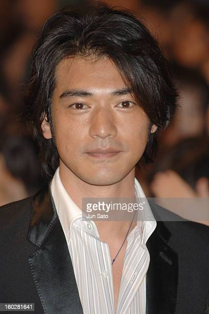 Takeshi Kaneshiro during Fan Meeting by the Cast of 'Perhaps Love' Photocall at Marunouchi Building in Tokyo Japan