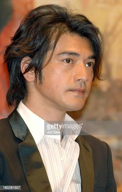 Takeshi Kaneshiro during 'Perhaps Love' Tokyo Press Conference at Marunouchi Building in Tokyo Japan