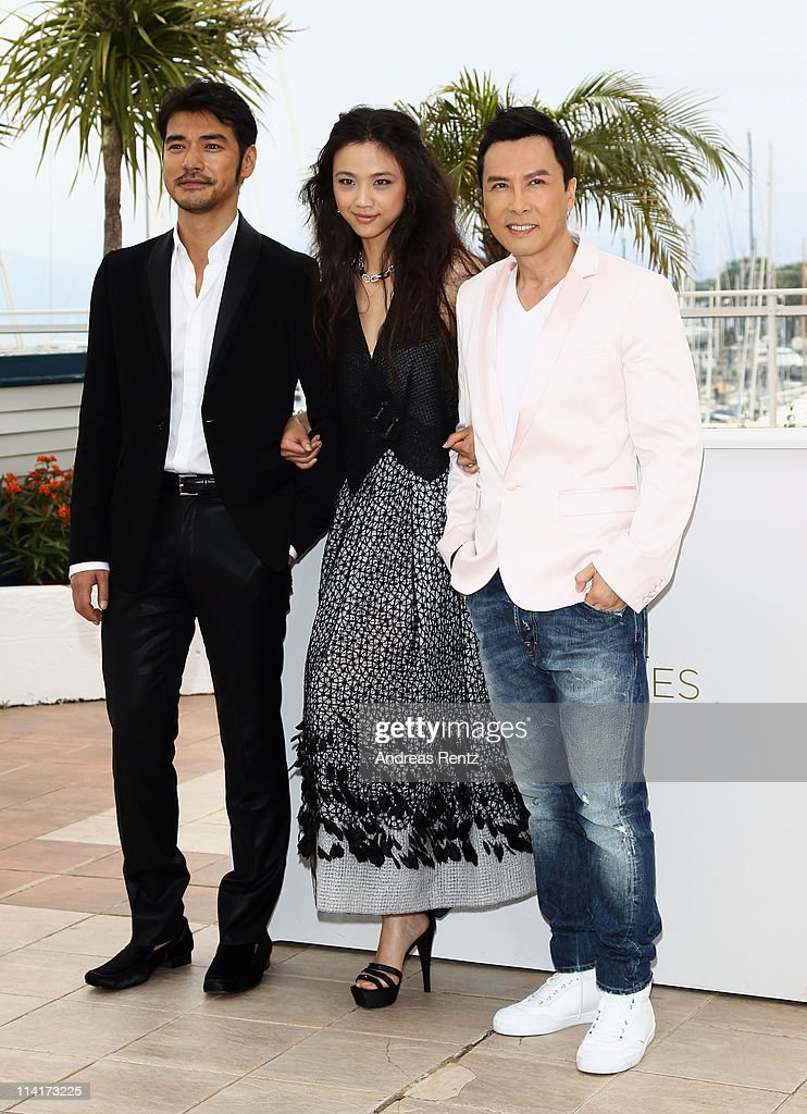 Takeshi Kaneshiro, Tang Wei, and Donnie Yen attends the 'Wu Xia' Photocall at the Palais des Festivals during the 64th Cannes Film Festival on May 14, 2011 in Cannes, France.