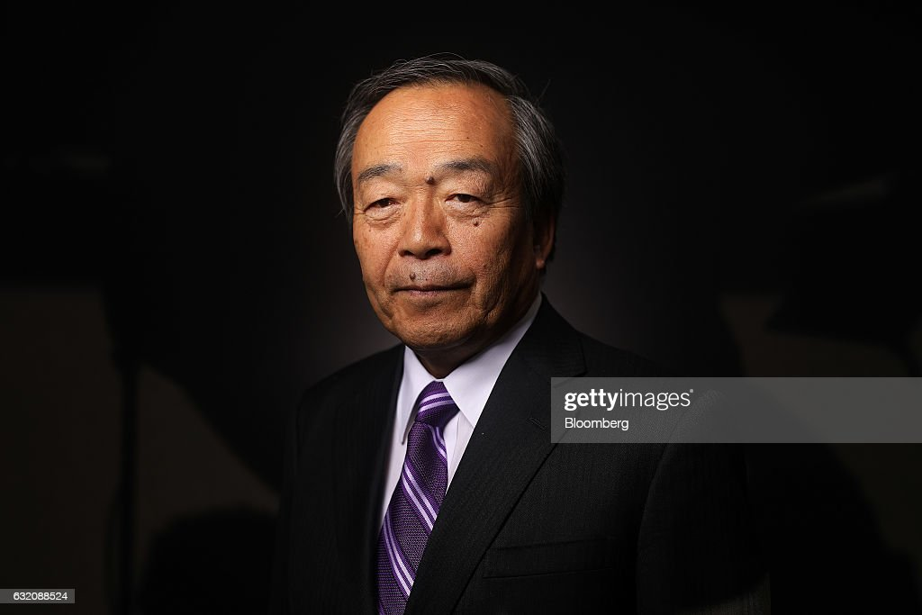 Takeshi Uchiyamada, chairman of Toyota Motor Corp., poses for a photograph following a Bloomberg Television interview at the World Economic Forum (WEF) in Davos, Switzerland, on Wednesday, Jan. 18, 2017. World leaders, influential executives, bankers and policy makers attend the 47th annual meeting of the World Economic Forum in Davos from Jan. 17 - 20. Photographer: Simon Dawson/Bloomberg via Getty Images