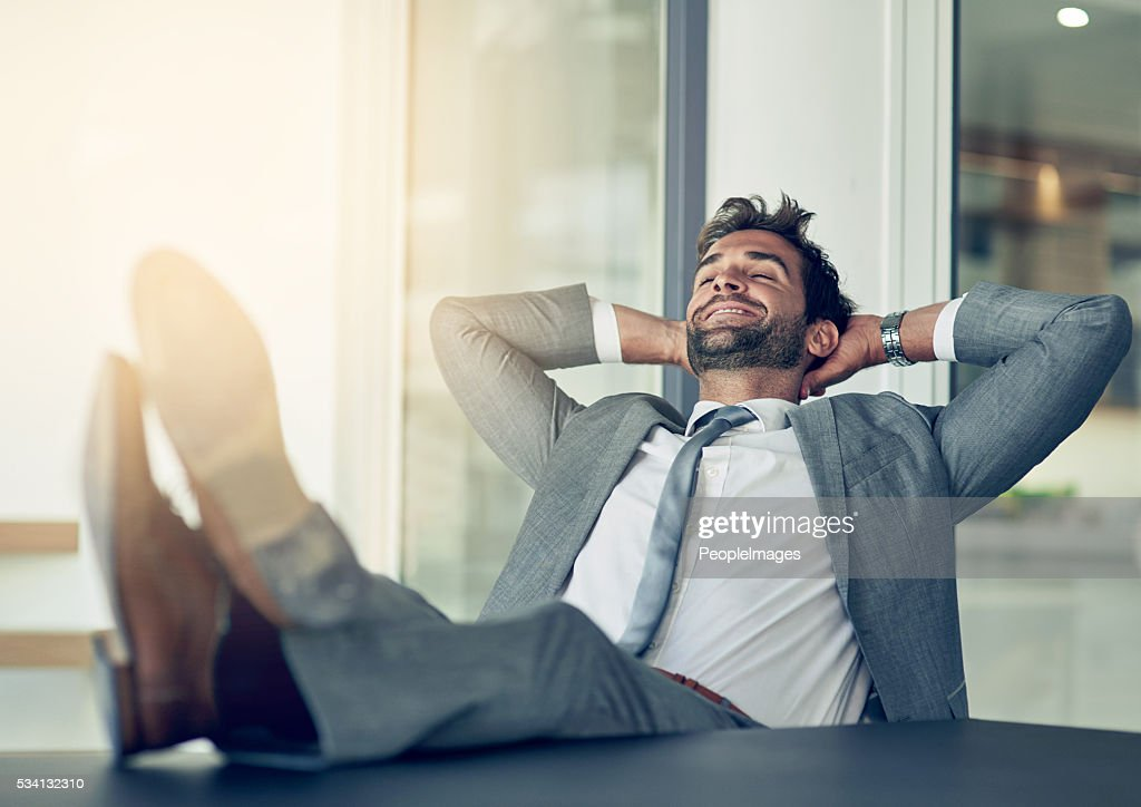 Taking a break from business : Stock Photo