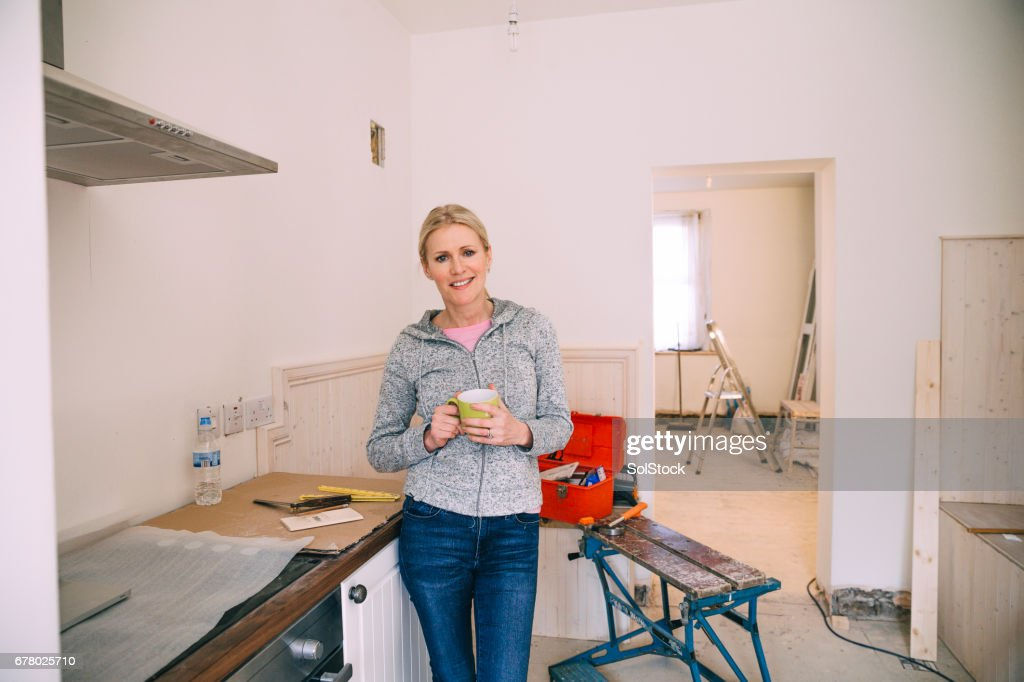 Taking a break from the Renovating : Stock Photo