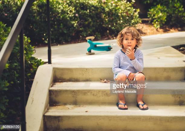 Taking A Break - Little Boy