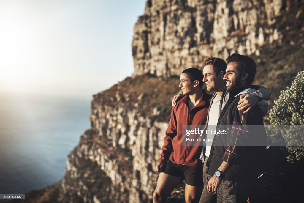 Taking a break on the way to the top : Stock Photo