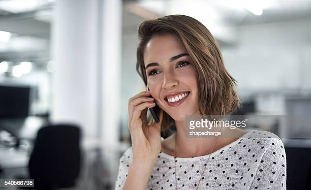Taking a business call