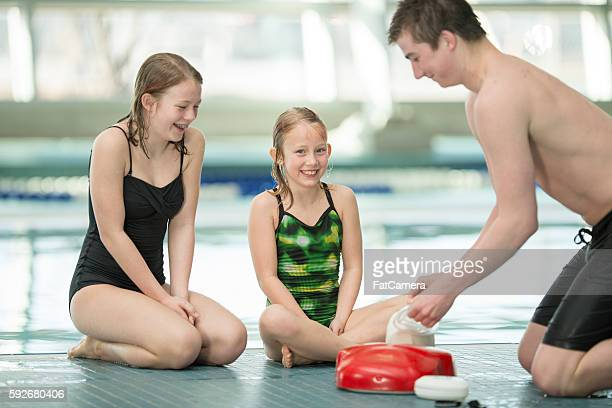 Taking a CPR Class at the Pool