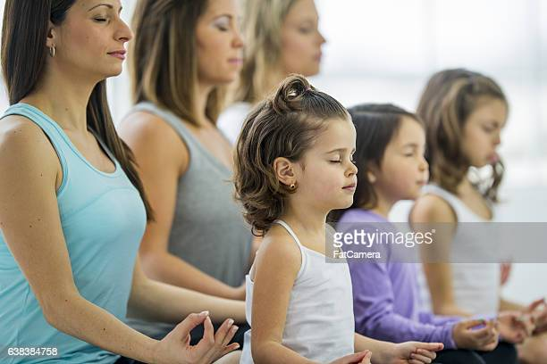 Taking a Family Yoga Class