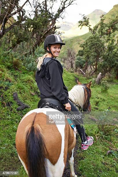 馬に乗った山の