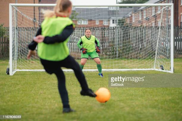 taking a penalty shot - scoring a goal stock pictures, royalty-free photos & images