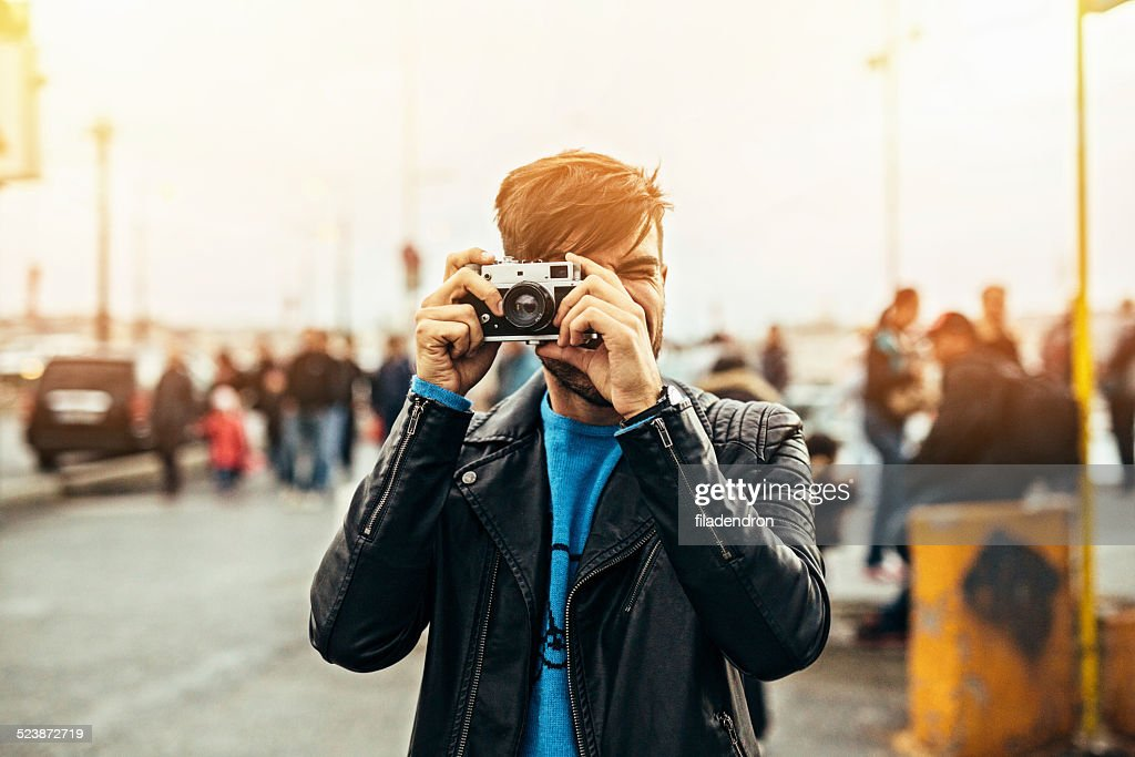 Taking a photo : Stock Photo