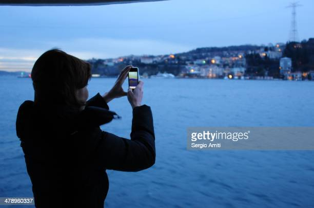Taking a picture on the Bosphorus cruise
