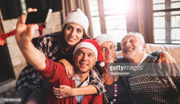 taking selfie at home for christmas