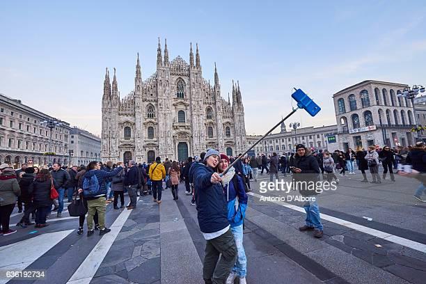 Taking a Selfie in Milan