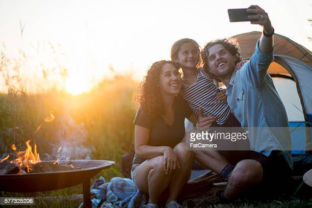 Taking a Selfie on a Camping Trip