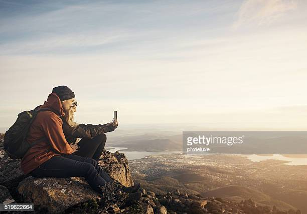Taking  a selfie on top of the world