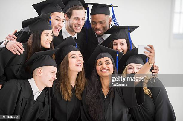 Taking a Selfie Together Before Grad