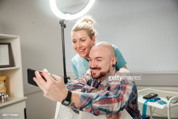 Taking a Selfie with her Patient