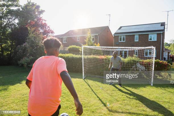 taking a shot at goal - shooting at goal stock pictures, royalty-free photos & images