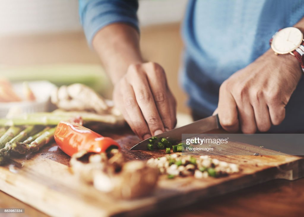 Taking a slice out of the healthy life : Stock Photo