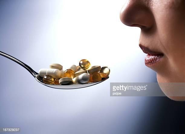 たスプーンの薬