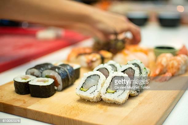 Taking a sushi