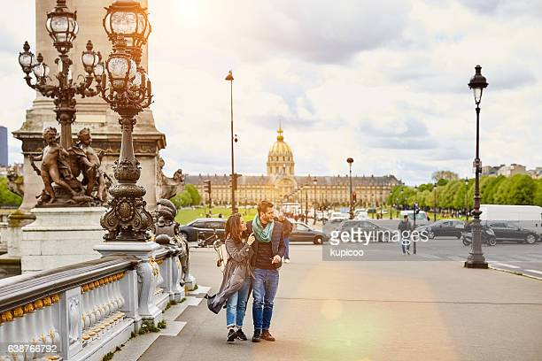 Taking a walk together through the streets of Paris
