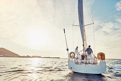 Taking an adventurous boat cruise 529667578