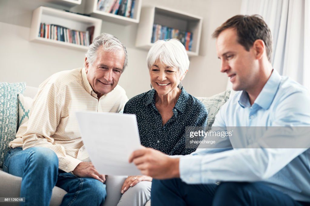Taking an early retirement plan definitely pays off : Stock Photo
