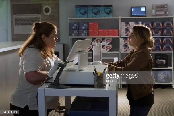 GIRLS 'Taking Care of Business' Episode 105 Pictured Alisa Harris as Shop City Manager Mae Whitman as Annie Marks