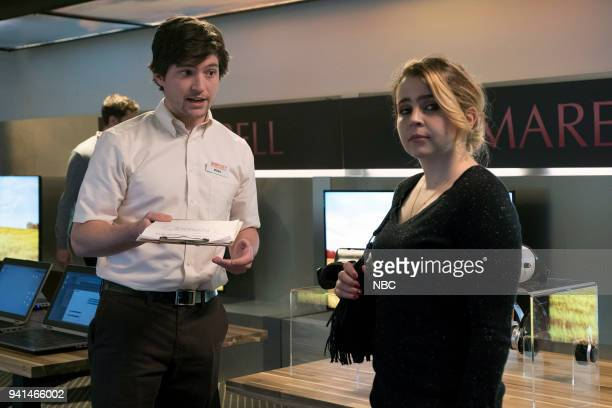 GIRLS 'Taking Care of Business' Episode 105 Pictured Thomas McDonell as Brian Mae Whitman as Annie Marks