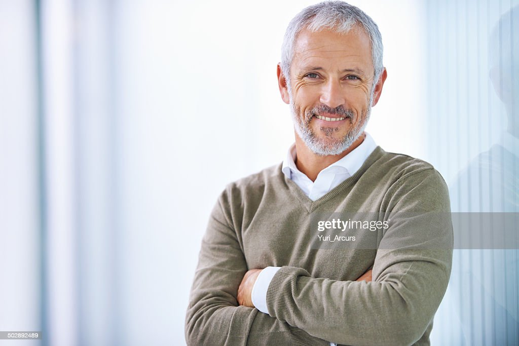 Taking care of business with a smile : Stock Photo