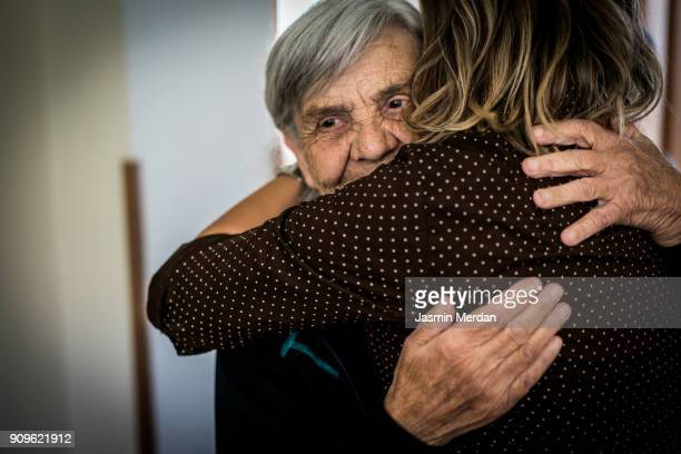 taking care of elderly people - charity and relief work stock pictures, royalty-free photos & images