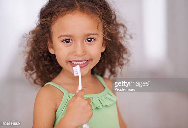 Taking care of her teeth from a young age