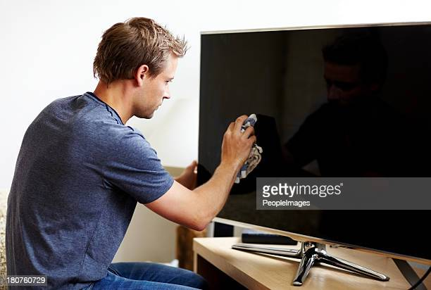 cuidar dos seus aparelhos eletrônicos - monitor flat screen - fotografias e filmes do acervo