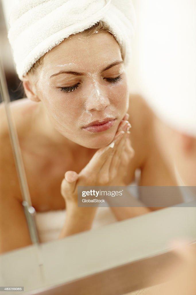Prendersi cura della mia pelle : Foto stock