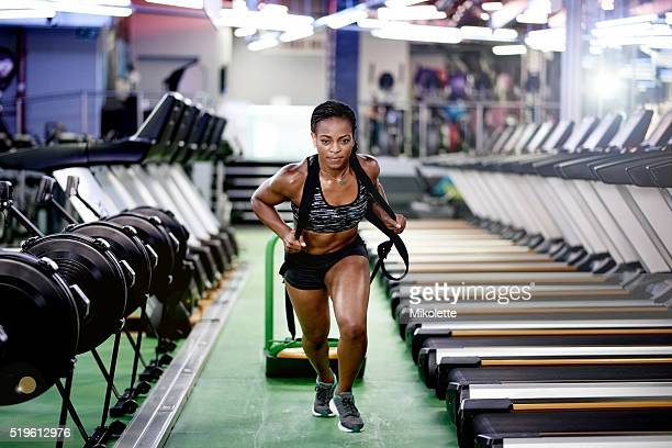 taking her training to the extreme - black female bodybuilder stock photos and pictures