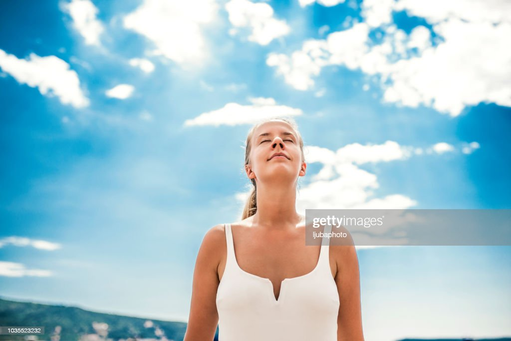 Taking in some fresh air : Stock Photo