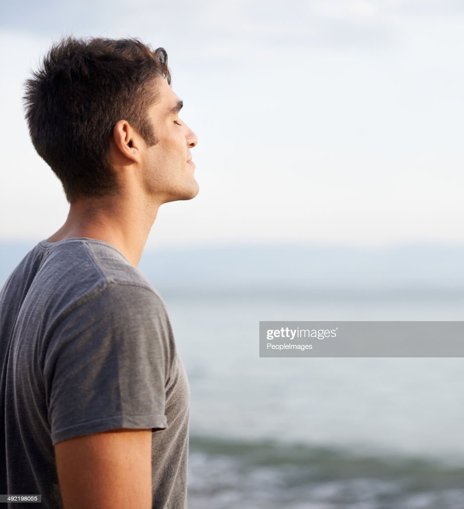 Taking in the fresh air : Stock Photo