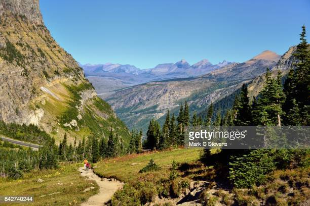 Taking in the Mountains and Valleys of Glacier National Park