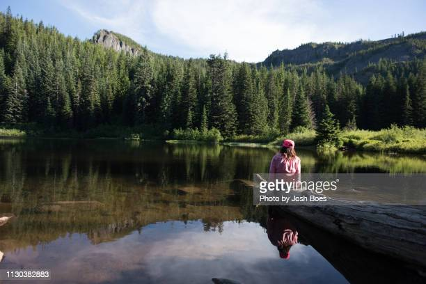 taking in the view - mirror lake stock pictures, royalty-free photos & images