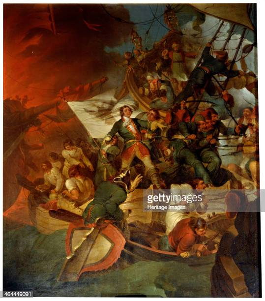 'Taking of Azov on 18 May 1696' late 18th or 19th century Tsar Peter the Great led a Russian military assault on the city of Azov near the mouth of...