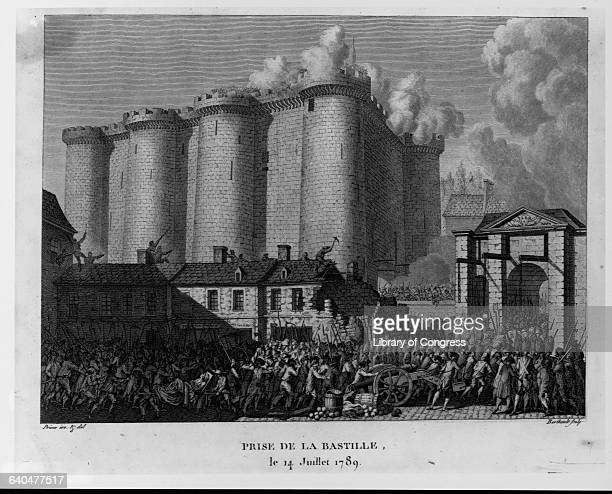 Taking of the Bastille by Pierre Gabriel Berthault after JeanLouis Prieur