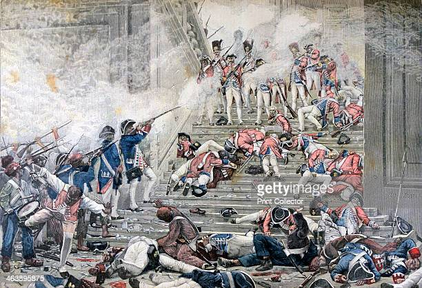 'Taking of the Tuileries', 10th August 1792, . A print from the Le Petit Journal, 13th August 1892.