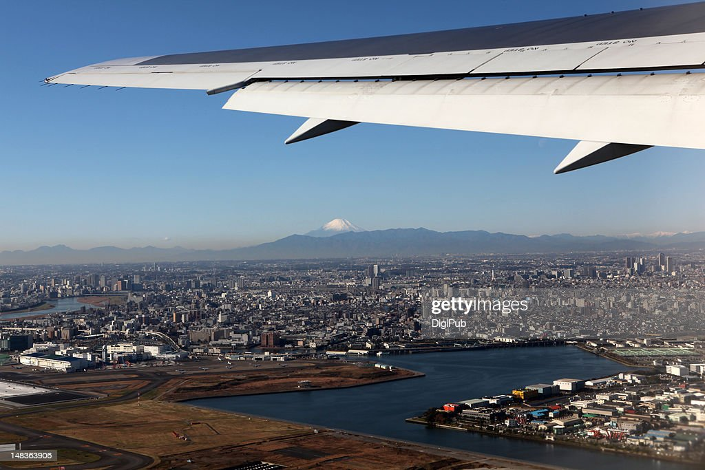 Taking off from Haneda : Stock Photo