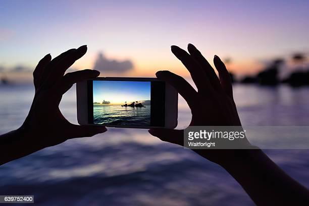 Taking photo of Boracay scenary