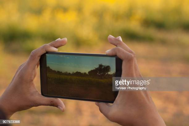 Taking photos with a smart phone