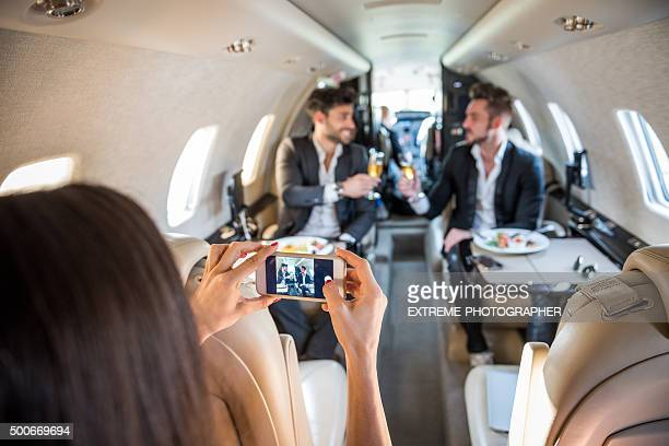 Fotografieren in private jet-Flugzeug